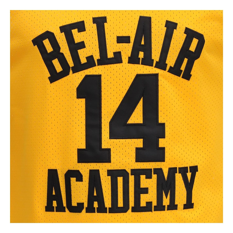 753dc3e1ebc0 Amazon.com  MOLPE Smith  14 Bel Air Academy Yellow Basketball Jersey  S-XXXL