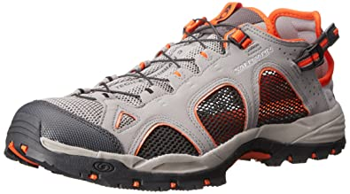 SalomonTechamphibian 3 - Zapatillas de Nordic Walking Hombre, (Pewter/Asphalt/Tomato Red), 48: Amazon.es: Zapatos y complementos