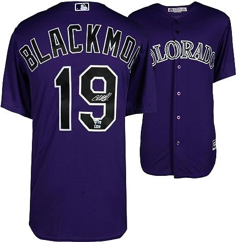 bb2f4f7bc5c Charlie Blackmon Colorado Rockies Autographed Majestic Purple ...