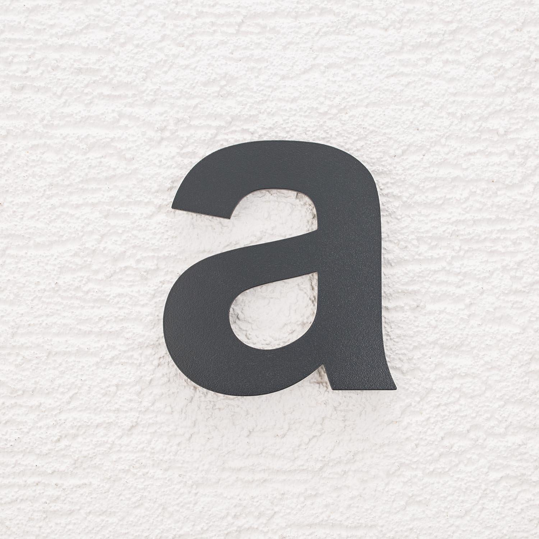 Metzler-Trade Hausnummer aus Edelstahl – in Anthrazit RAL 7016 - Ziffern & Buchstaben - Höhe:14 cm - modernes Design (3)