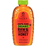 Nature Nate's 100% Pure Organic, Raw & Unfiltered. Squeeze Bottle; Allnatural Sweetener, USDA Certified Organic, No Additives