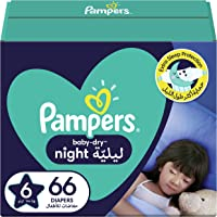 Pampers Baby-Dry Night, Size 6, 14+ kg, 66 Diapers