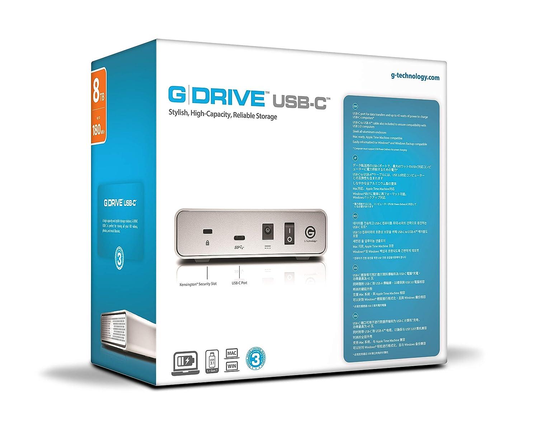 G-Technology G-Drive USB-C Disco Duro Externo de 8 TB