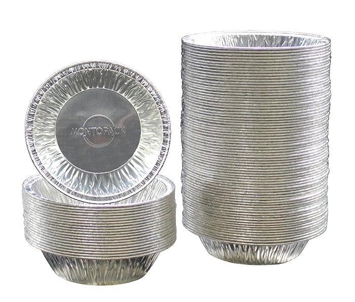 "MontoPack Disposable 5"" Aluminum Foil Tart/Pie Tins Pans (100 Pack) …"