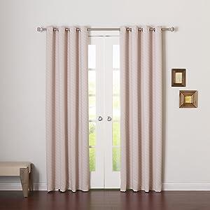 Best Home Fashion Closeout Room Darkening Diagonal Stripe Curtains – Stainless Steel Nickel Grommet Top – Baby Pink – 52