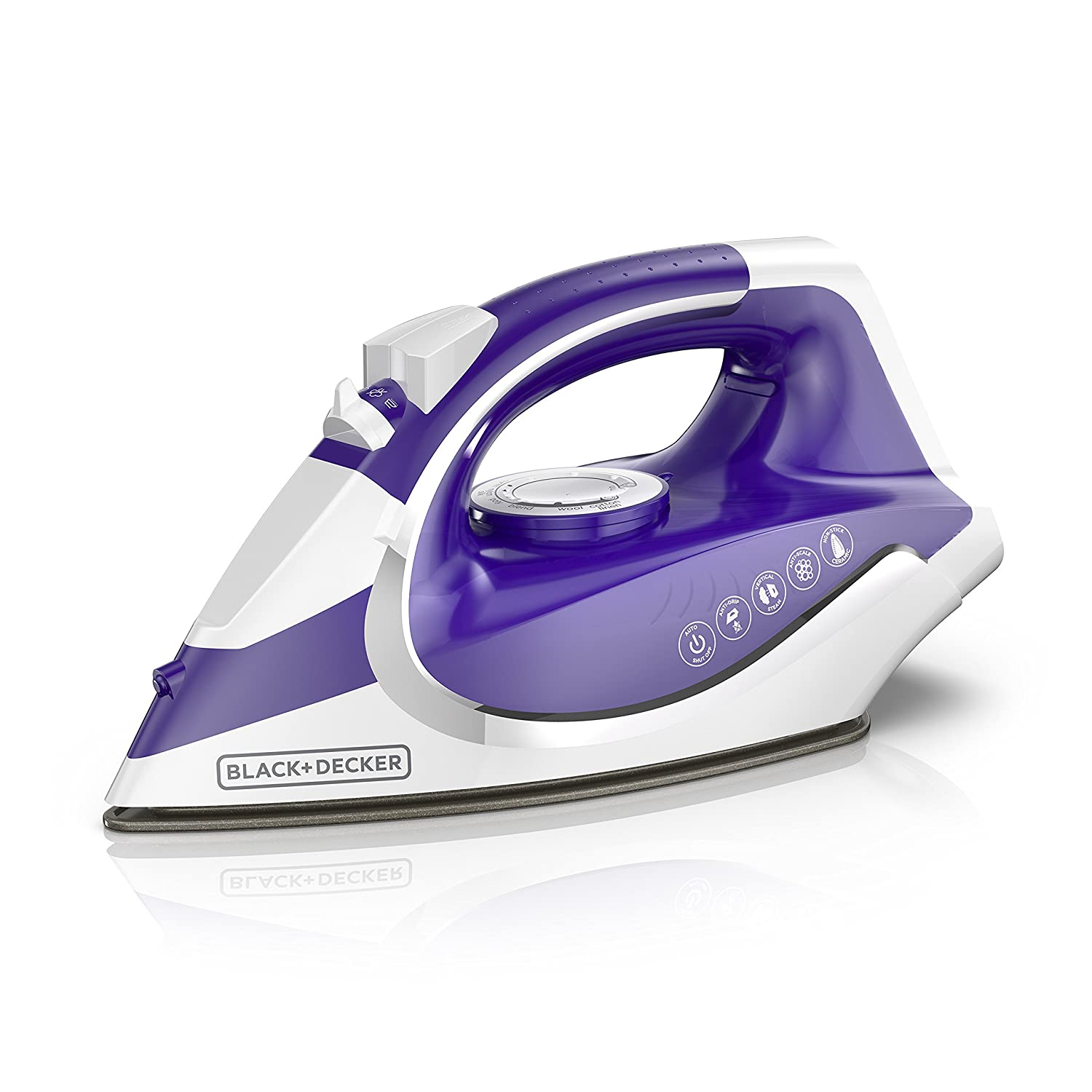 BLACK+DECKER ICL500 Light 'N Go Cordless Iron with Nonstick Soleplate Large Water Tank Purple