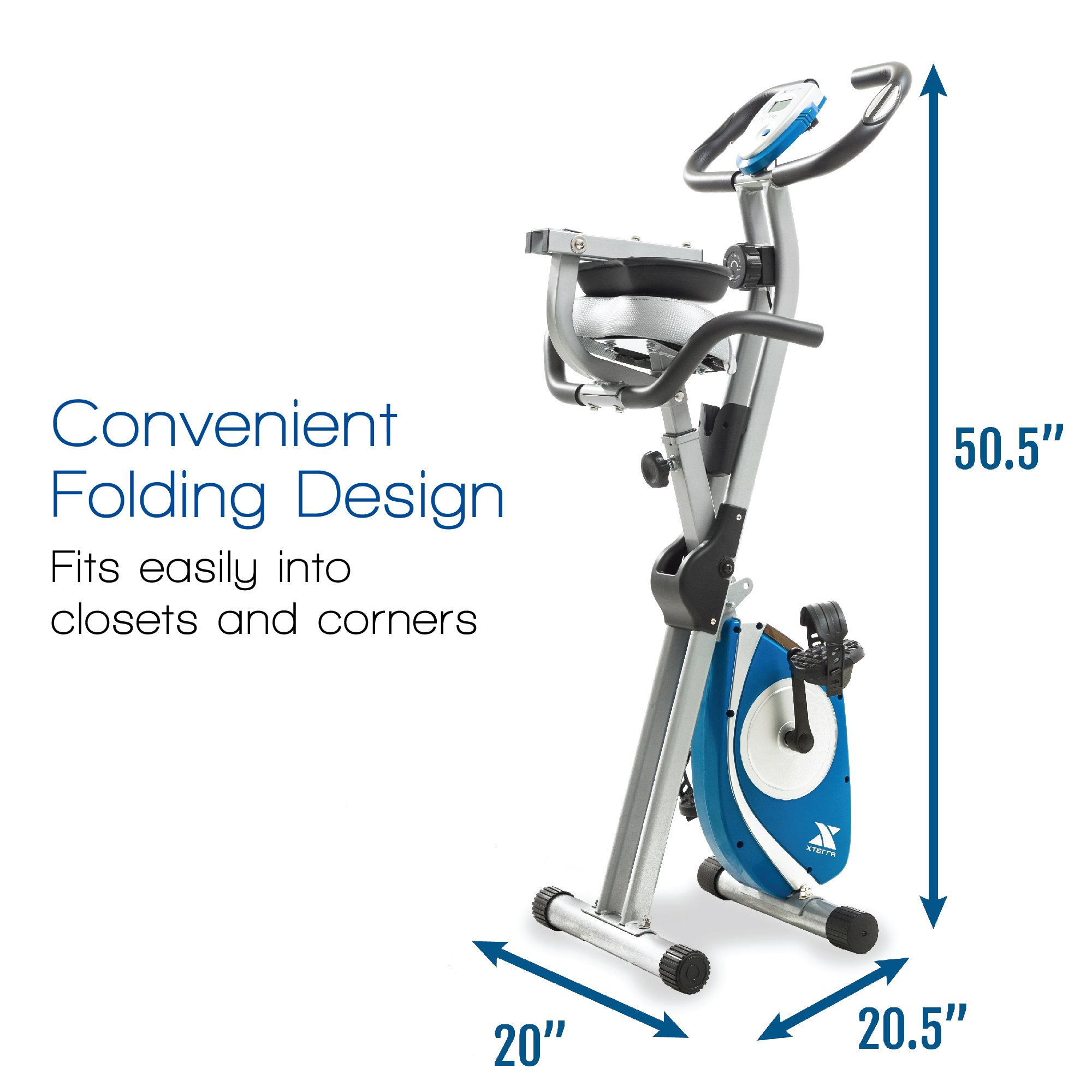 XTERRA Fitness FB350 Folding Exercise Bike, Silver by XTERRA Fitness (Image #3)