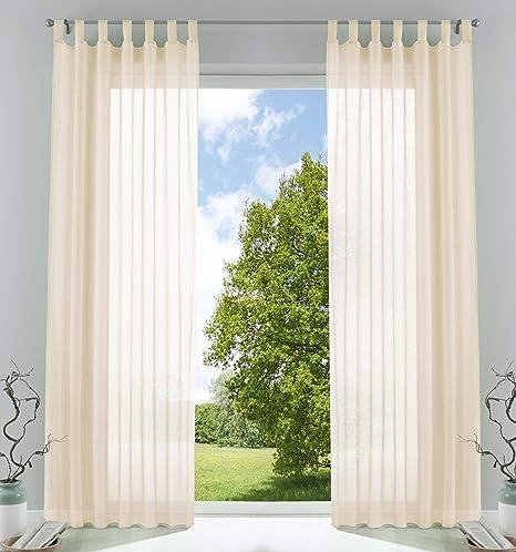 Schlaufenschal 2er Pack Transparent Voile Gardine Vorhang