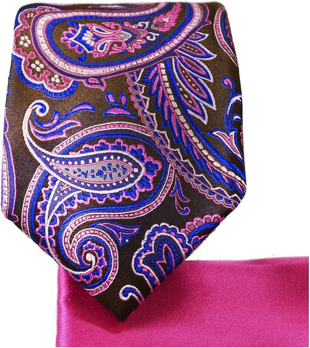 Handkerchief Hanky Hankie Tie Ties Necktie Suit Formal Wedding Handmade Designer Men/'s Pocket Square Paisley Pink XP888-PS