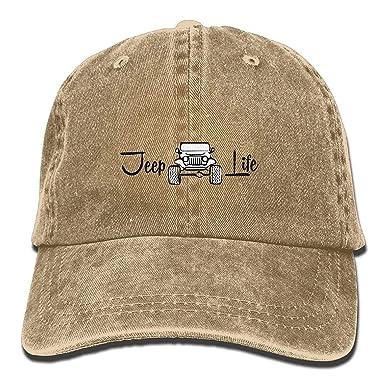 f259d83d Amazon.com: Jeep Life Cl Unisex Adjustable Baseball Cap Dad Hat ...