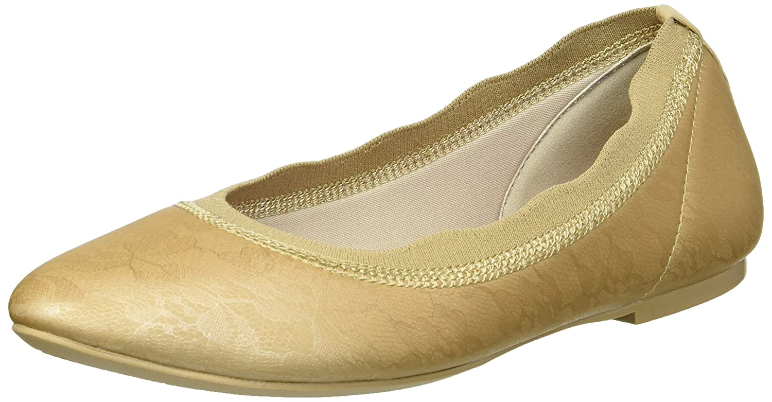 Skechers Women's Cleo Place Lace Printed Stretch Fabric Skimmer Ballet Flat