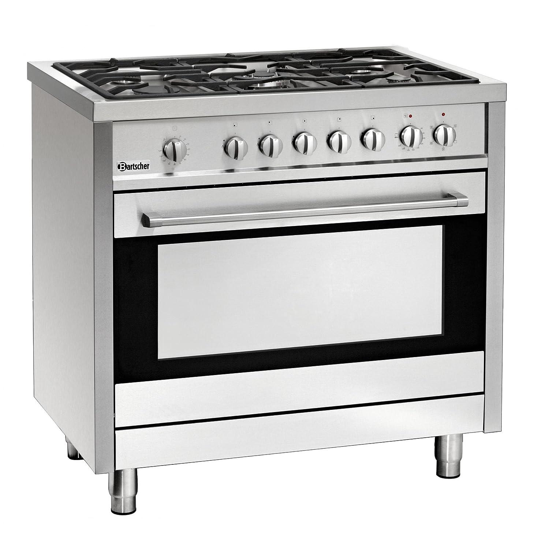 Piano cottura a gas 5 fuochi con forno elettrico 105 litri: Amazon ...