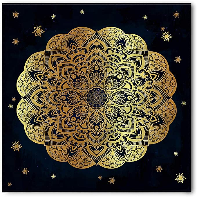 Soefipok Mandala Bandana, ilustraciones florales dibujadas a mano ...
