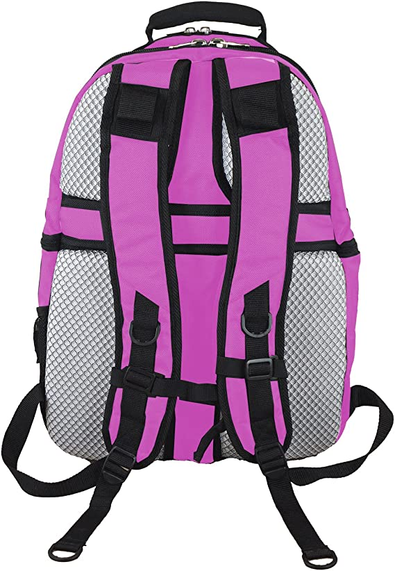 19-inches Denco NCAA Unisex-Adult NCAA Voyager Laptop Backpack Pink