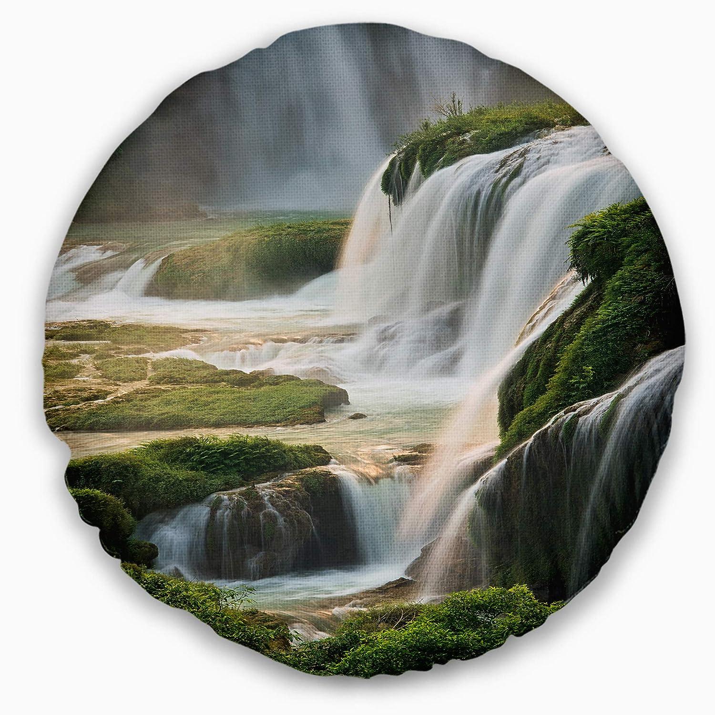Designart CU8733-16-16-C Detian Waterfall Throw Pillow 16