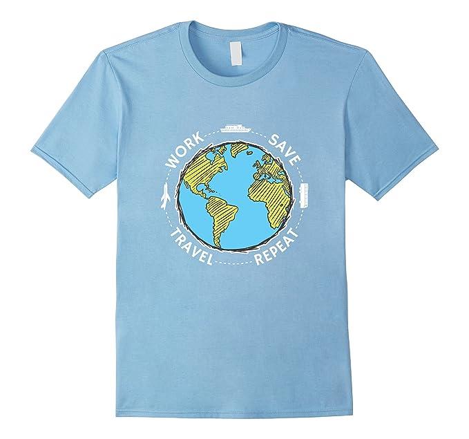 Viaggiatore Del Mondo T-shirt aTL06Hnyd