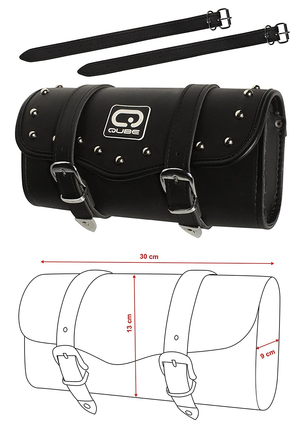 Tool Bag Motorcycle leather storage bag Drum style storage bag