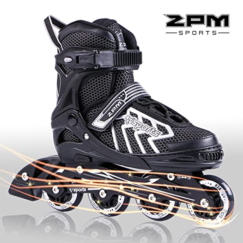 2pm Sports Brice Adjustable Inline Skates Featuring Light Up LED Wheels Fun Flashing Rollerblades For Boys Kids And Youth