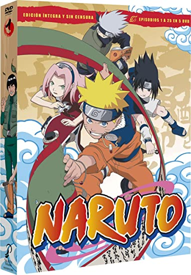 Naruto Box 1 Episodes 1 To 25 [DVD]: Amazon.es: Animación ...