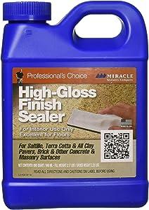 Miracle Sealants HGFS6QT High Gloss Finish Sealer Color & Gloss Enhancers, Quart, Clear