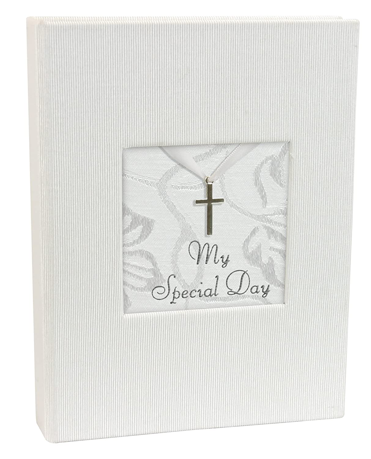 Stephan Baby Inspirational Keepsake Mini Photo Album with Silver Cross, My Special Day 387604