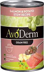 AvoDerm Natural All Life Stages Dry & Wet Dog Food, Grain Free, Salmon & Vegetables Recipe, Seafood