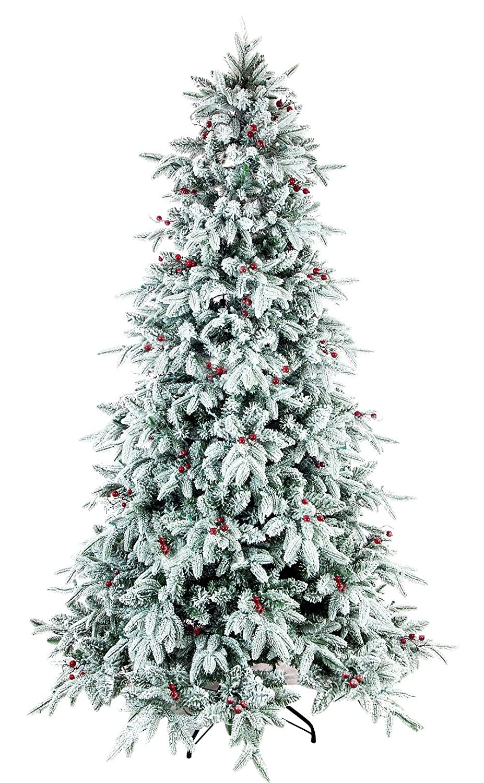 Amazon.com: ABUSA Flocked Snow PE/PVC Mixed Pine Artificial ...