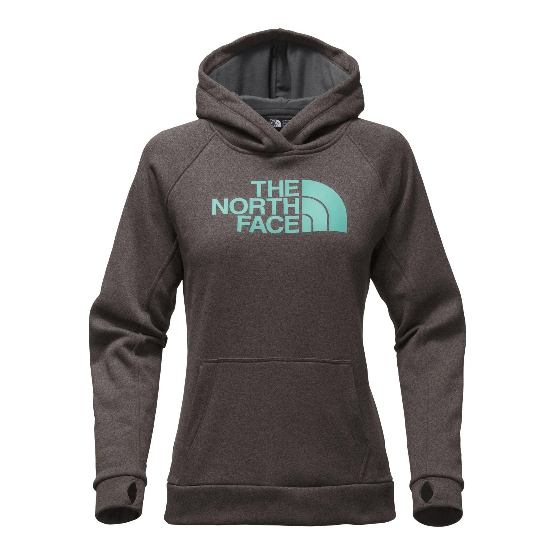 The North Face Women's Fave Half Dome Pullover Hoodie - TNF Dark Grey Heather/Bristol Blue - M