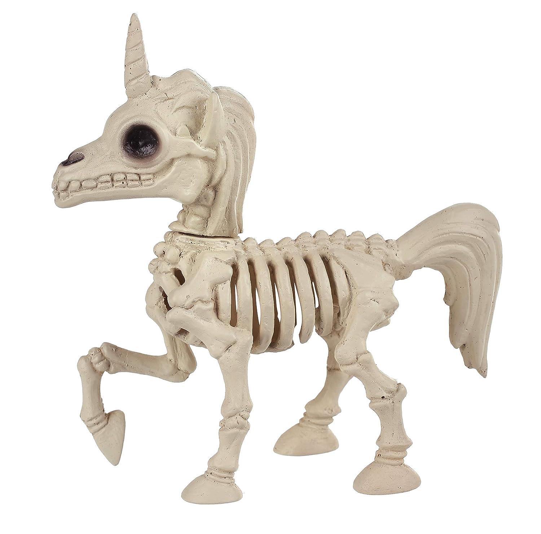 Crazy Bonez Unicorn Skeleton Figurine