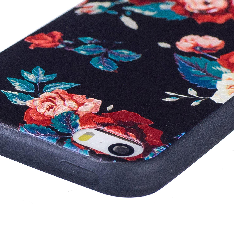HUDDU Compatible for Schutzh/ülle iPhone 5 iPhone SE Silikon H/ülle Hund Muster Motiv Handyh/ülle 3D Karikatur Case Weich Soft Flexibel TPU Back Cover Crystal Sto/ßfest Scratchproof iPhone 5S