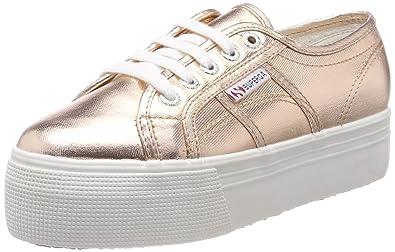 Superga 2790 Netw, Unisex Erwachsene Platform Sneakers, Gold, 41 EU