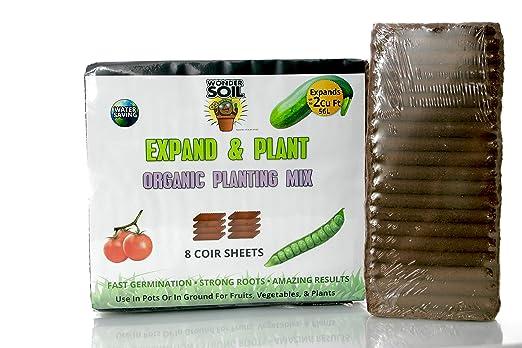 Patentado Coco fibra de coco + más - 2 CU FT hoja cubo: Amazon.es ...