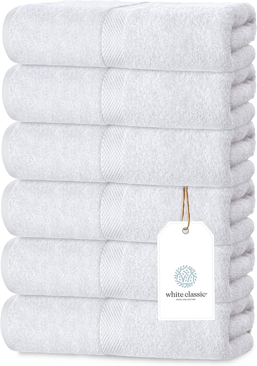 Luxury White Hand Towels Soft Circlet Egyptian Cotton Highly Absorbent Hotel Spa Bathroom Towel Collection 16x30 Inch Set Of 6 Home Kitchen