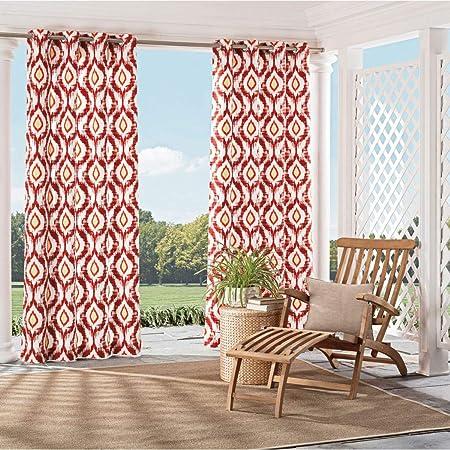 1Pieza 95 especias color Gazebo cortina Panel único, al aire libre Pergola Drapes porche, deck, patio Protector de entrada Sunroom Lanai, rojo color de natashia Lunt impreso Rugby colores fuera: Amazon.es: Jardín