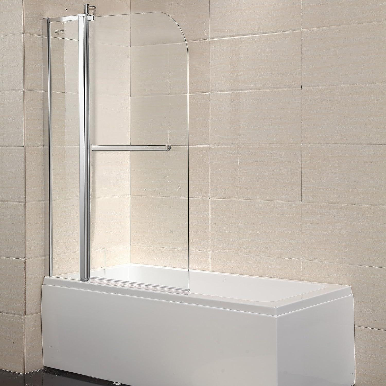 Mecor Shower Door Hinged Frameless 14 Clear Glass Bathtub Door