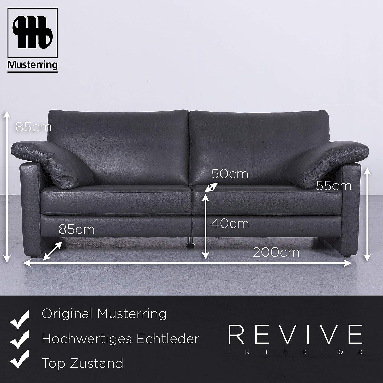Brilliant Echtleder Sofa Schwarz Galerie Von Conceptreview: Musterring Designer Leder Dreisitzer Couch #6483: