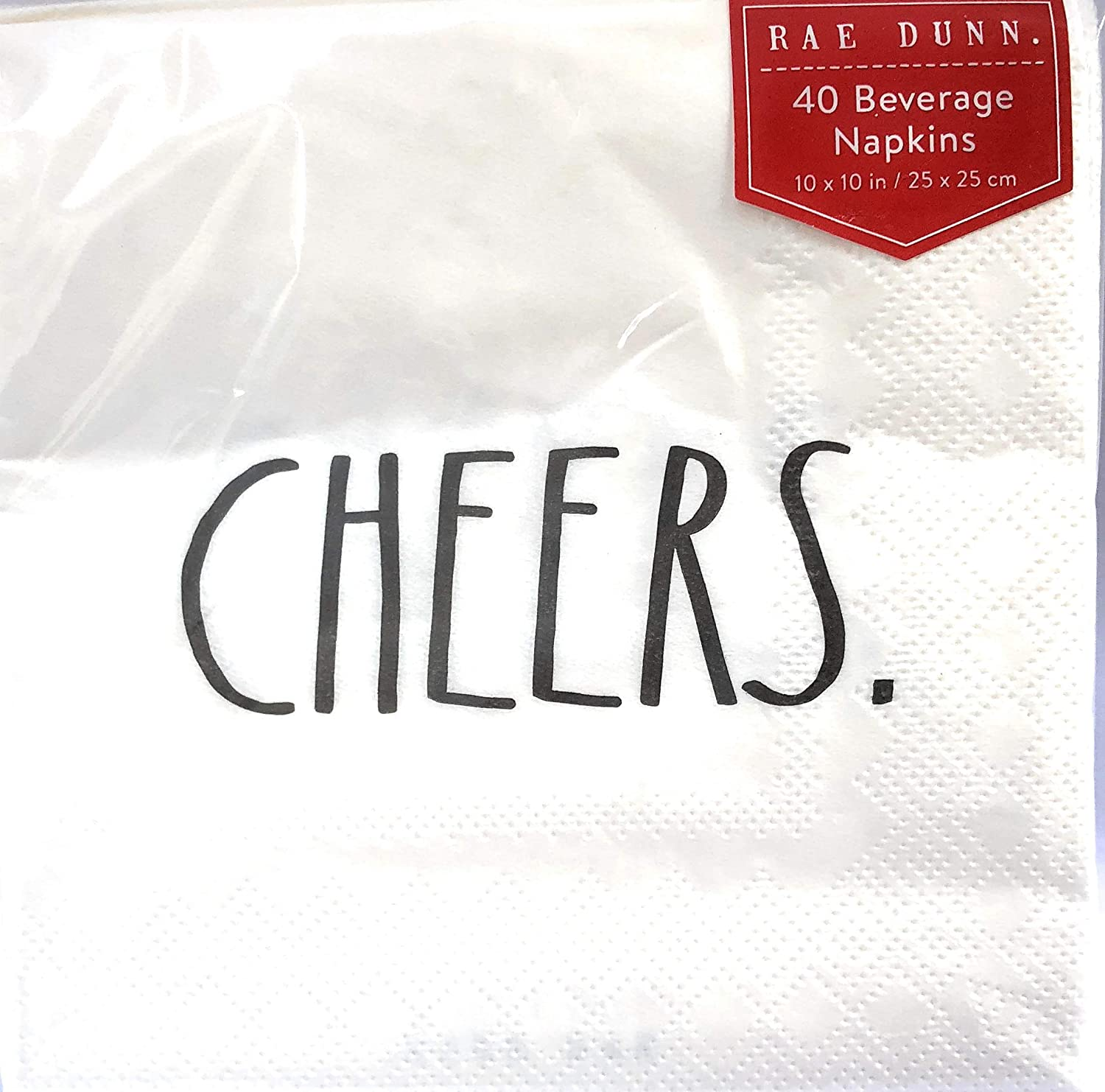 Rae Dunn Cheers Beverage Napkins