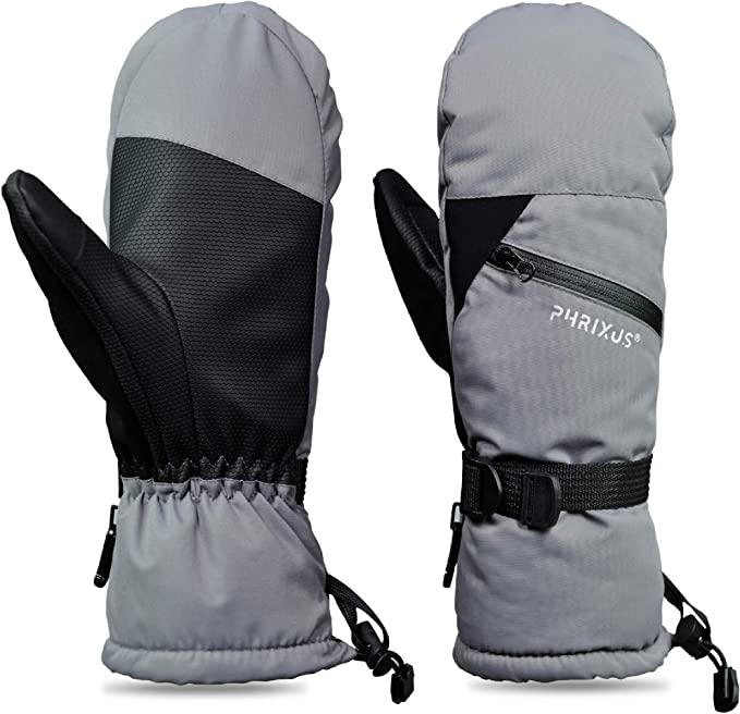 PHRIXUS Ski Mittens for Men /& Women Winter Snow Mitts Touch Screen Waterproof Gloves