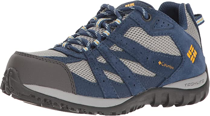 ColumbiaYouth Redmond Waterproof - Zapatillas de running para chico, Azul (Steam/ Super Solarize), 32 EU: Amazon.es: Zapatos y complementos