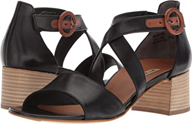 1aa4735b1 Paul Green Women s Sally Heel Black Leather Cuoio 6 ...