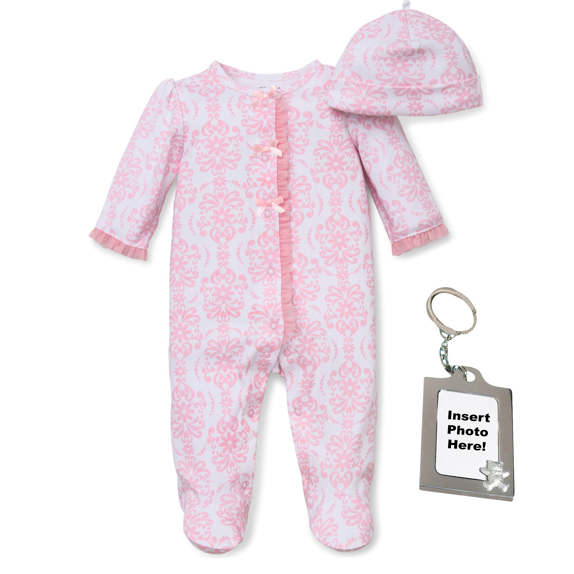 Little Me Girls 3 Piece Sleeper Baby Footed Pajamas