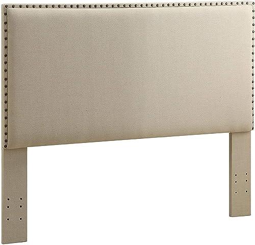 Linon Charcoal Full/Queen Contempo Headboard Natural