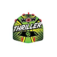 WOW Watersports Thriller Deck Tube Water Towable Tube Inflatable Boat Tube, Wild...