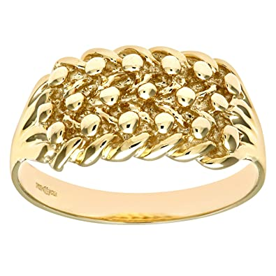 Citerna 9ct Yellow Gold Keeper Ring uMT9z