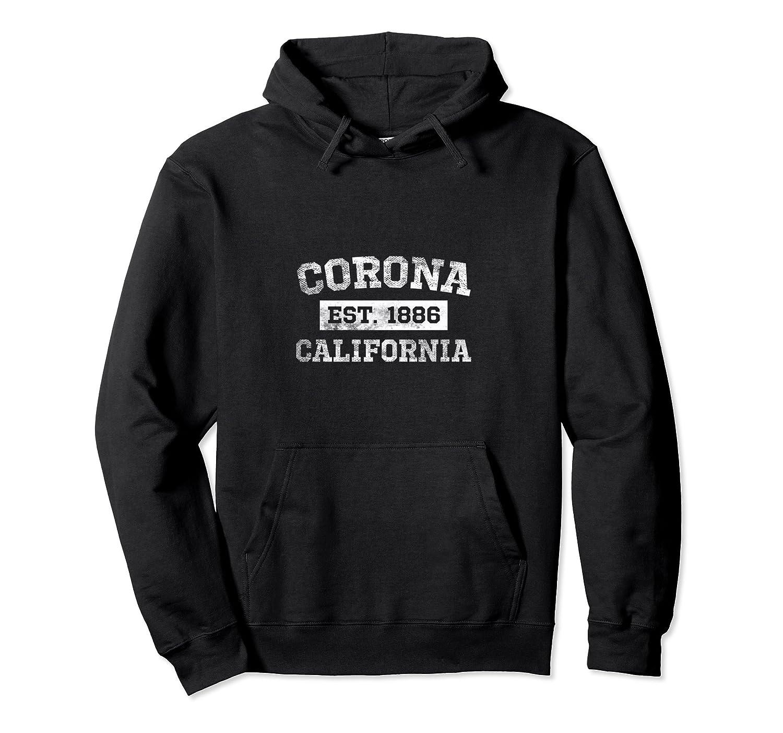 Corona California Est. 1886 Hoodie Sweatshirt Distressed-TH