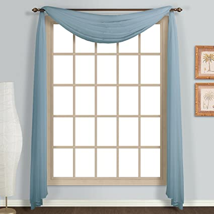 United Curtain Monte Carlo Window Scarf 59quot X 216quot