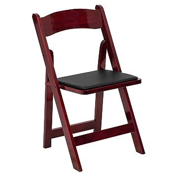 Amazon.com: HERCULES™ silla plegable de madera blanca ...