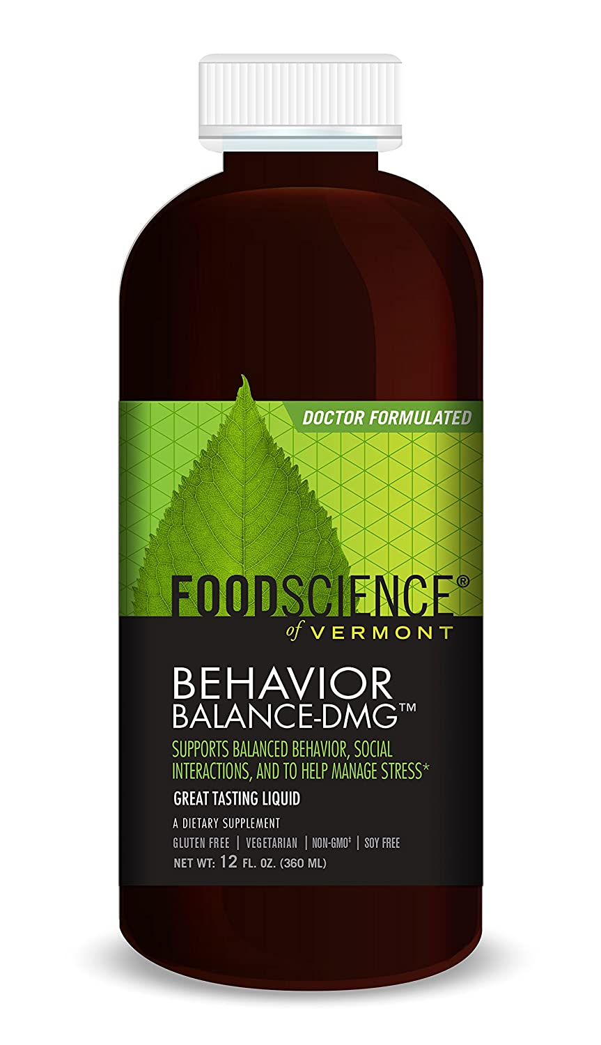 FoodScience of Vermont Behavior Balance-DMG Liquid, Behavior Support  Supplement, 12 FL OZ