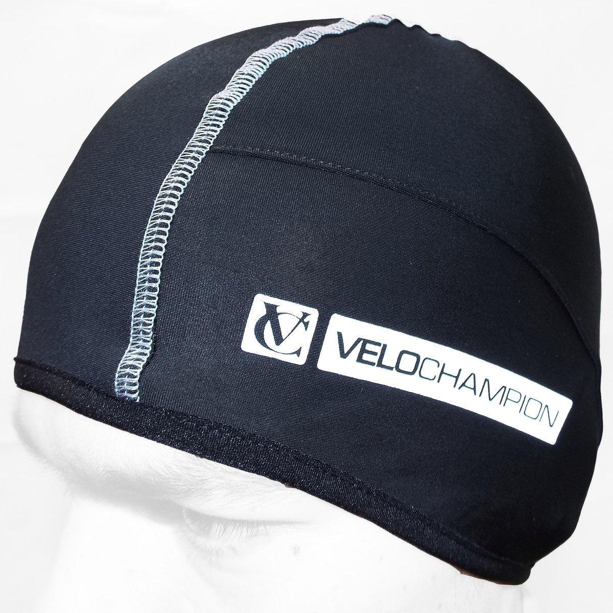 VeloChampion Thermo Tech Cycling Skull Cap - Under Helmet Hat - Black 2219