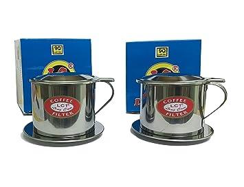 Juego de filtros de café vietnamita, pour over goteo estilo, Lento Cafe de goteo eléctrica, ...